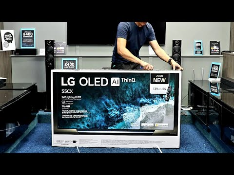 LG 2020 OLED CX 4K HDR Unboxing and Setup with 4K DEMO Videos and Test OLED55CX