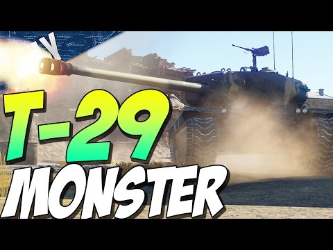 T-29 MONSTER TANK - American Heavy Tank (War Thunder Tank Gameplay)