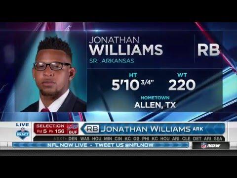 2016 NFL Draft Rd 5 Pk 156 | Buffalo Bills Select RB Jonathan Williams