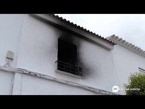 VÍDEO: Una mujer detenida en Las Navas tras incendiar presuntamente la casa que compartía con su hermana, que resultó herida