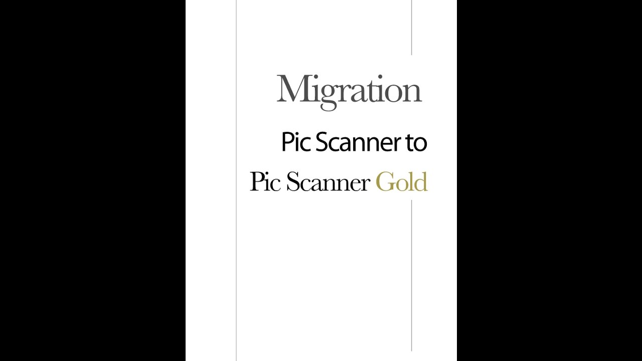 Pic Scanner Gold How To Convert From Old
