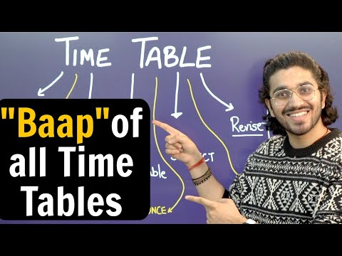 The Best Time Table for every student | 5 Big Mistakes | SuperTips