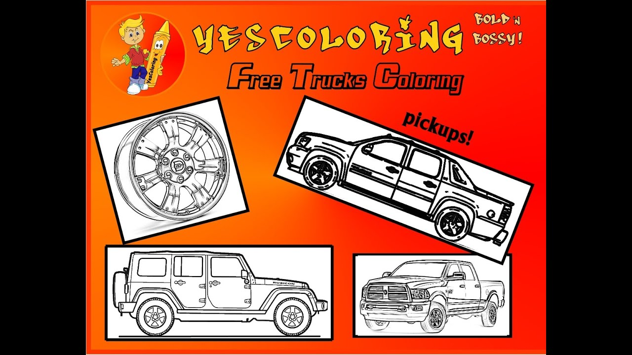 big boss pickup trucks coloring pages youtube