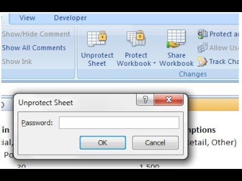 how to unprotect sheet | unlock worksheet | របៀបដោះសោរ ...