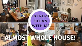 EXTREME CLEAN WITH ME // ALMOST WHOLE HOUSE // WORKING MOTHER OF 6 // SHYVONNE MELANIE TV