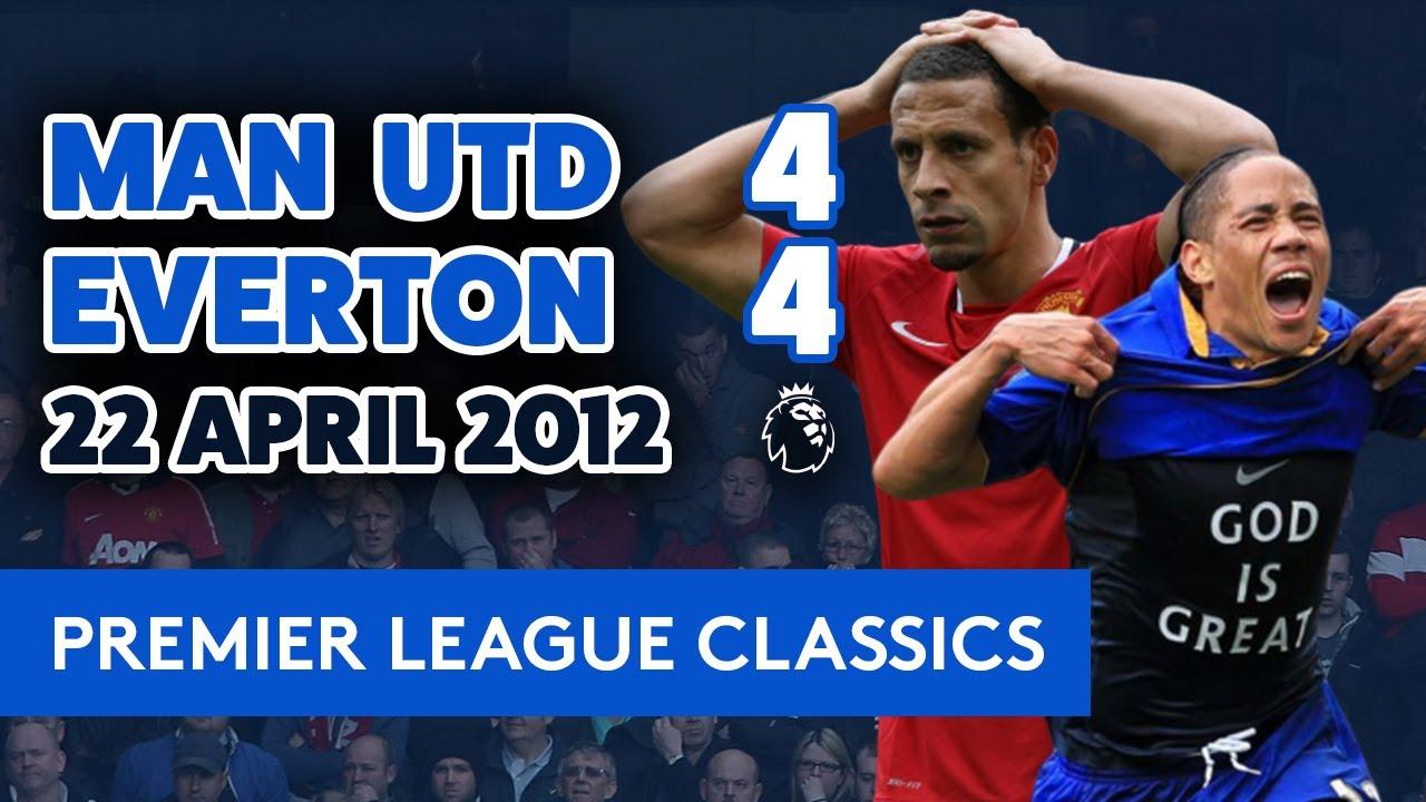 Download INSANE GAME! MAN UNITED 4-4 EVERTON   PL CLASSICS: 22 APRIL 2012