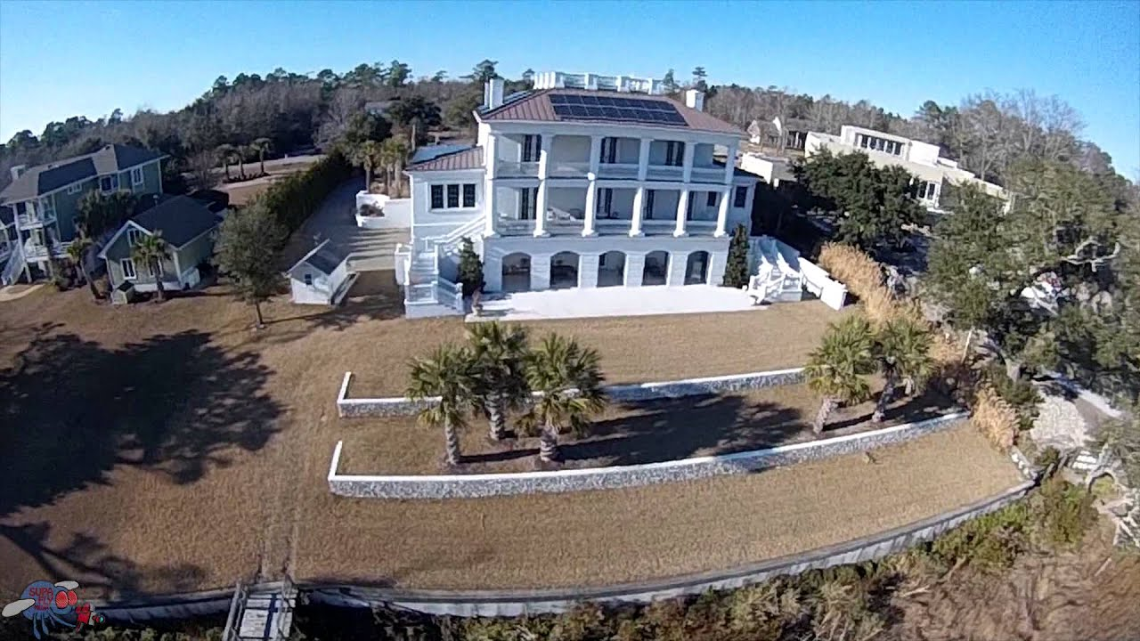 Aerials of custom homes by david james co in wilmington for David james custom homes