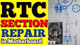 RTC Section Repair in hindi / c.mos section / crystal 32.768khz / how to repair rtc section