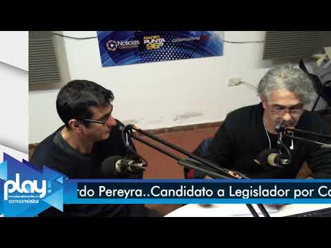 Eduardo Pereyra En los Estudios Play..Candidato a Legislador por Calamuchita