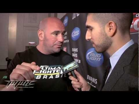 DANA WHITE MAD!!! PRE FIGHT FOX 2 INTERVIEW ON SOPA HACKERS AND CHAEL SONNEN TITLE
