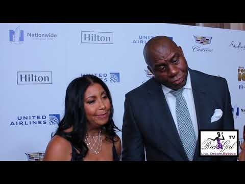 Magic and Cookie Johnson Honored At The Ebony Power 100 Gala 2017