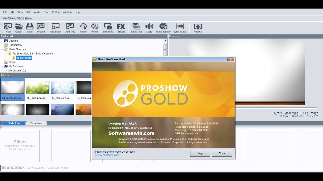 proshow gold new version 2018