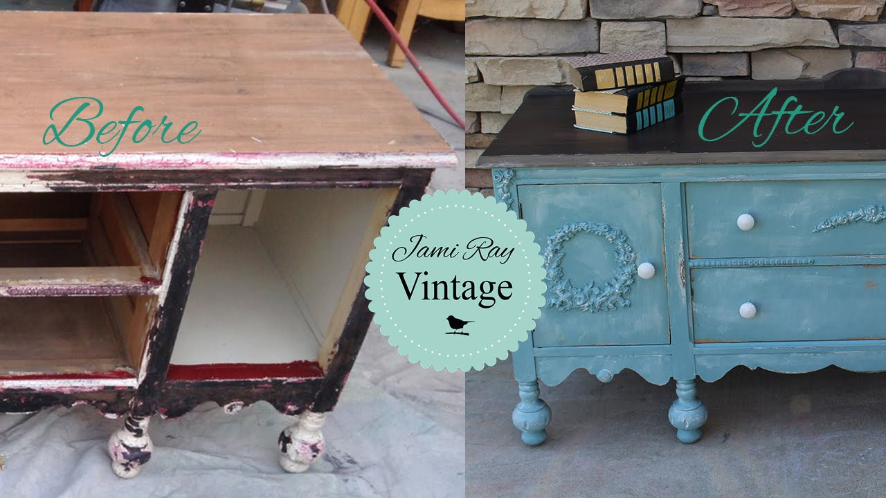 How To | Belt Sanding A Buffet Table Top. Jami Ray Vintage