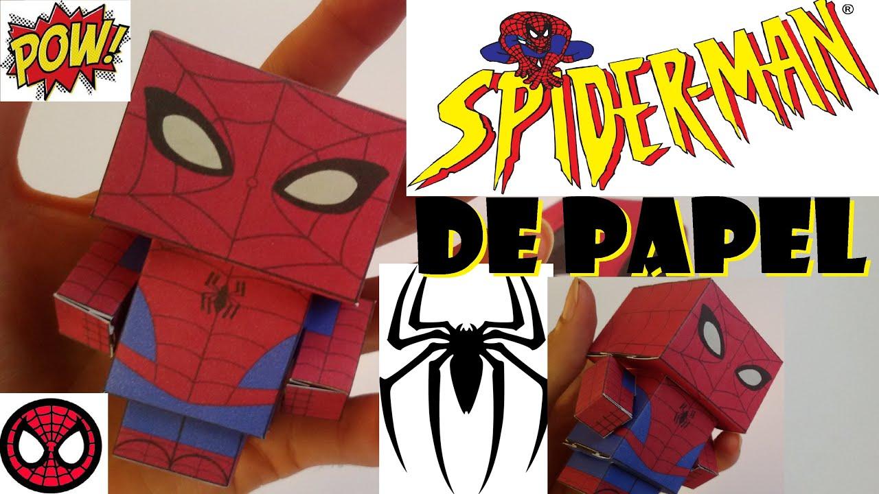 Spider Man De Papel Como Fazer O Espetacular Homem Aranha De Papel