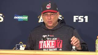 """""""We play every game like it's our last game"""" - Terry Francona press conference pre-final ALDS game"""