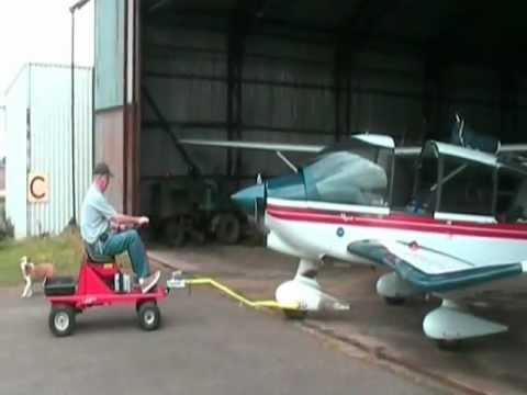 Electric Trailer Dolly >> Aircraft Tug - YouTube