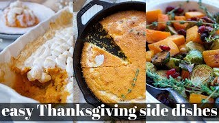 3 EASY AND DELICIOUS VEGAN THANKSGIVING SIDE DISHES | PLANTIFULLY BASED