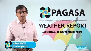 Public Weather Forecast Issued at 4:00 AM November 30, 2019