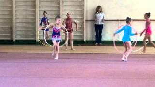 соревнование по художественной гимнастике.сдача на 1й юношеский разряд