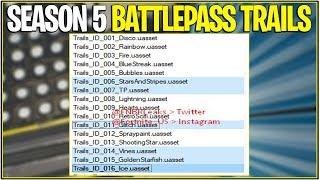 *NEW* Fortnite: SEASON 5 BATTLE PASS TRAILS LEAKED! | (Battle pass Rewards)
