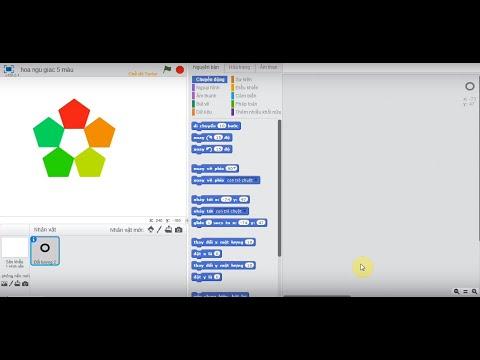 Cách vẽ các loại hoa ngũ giác trong Scratch - Kênh 25