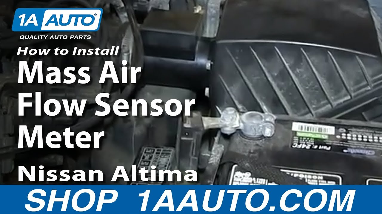 how to install replace mass air flow sensor meter 1998 01 nissan altima [ 1280 x 720 Pixel ]