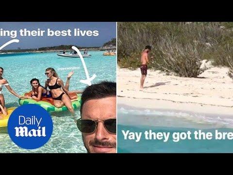 Olivia Culpo, Devon Windsor & Danny Amendola in the tropics - Daily Mail