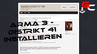 Arma 3 Distrikt41 installieren [German/Deutsch] [HD]