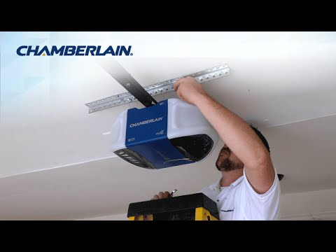 Chamberlain Wi Fi Garage Door Opener Installation Highlights Youtube