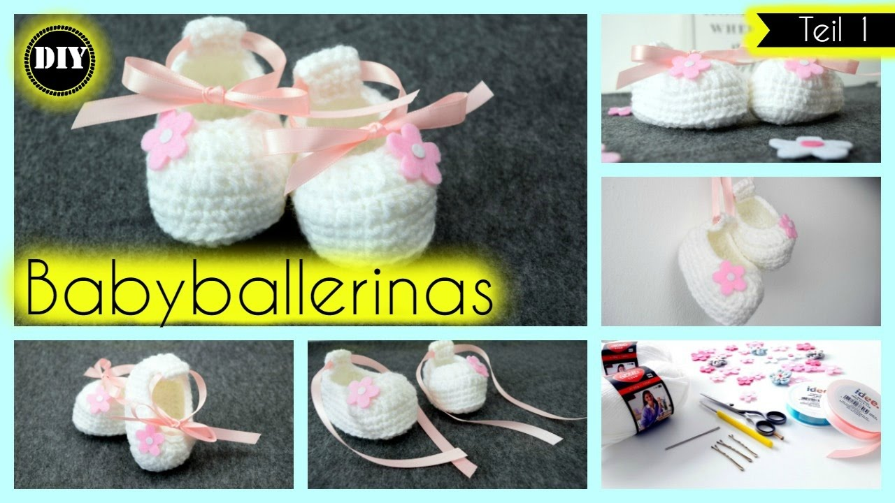 Babyballerinas häkeln, Babyschuhe für Anfänger -Teil 1- »Lalalunia ...