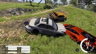 ПОГОНЯ ЗА ЛАМБОРГИНИ (Lamborghini) В BeamNg Drive! РП ПОГОНИ!!