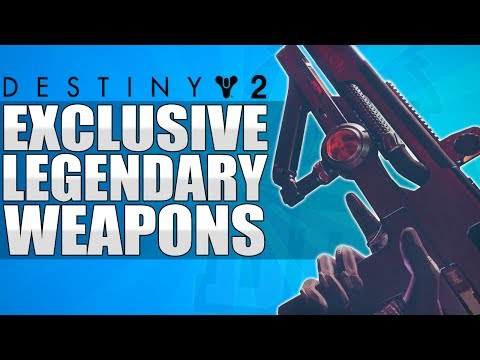 Destiny 2: All New Exclusive Legendary Weapons Gameplay - Kinetic, Energy & Power!