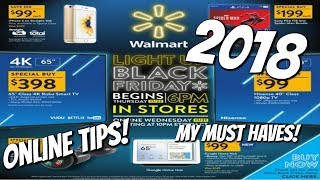 WALMART BLACK FRIDAY 2018! MY MUST HAVES & TIPS!