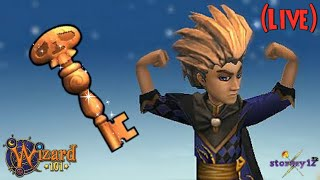 🔴 Wizard101: I'M NOT GOING UNTIL I GET THE WOODEN KEYS 🔴   Live (Farming)