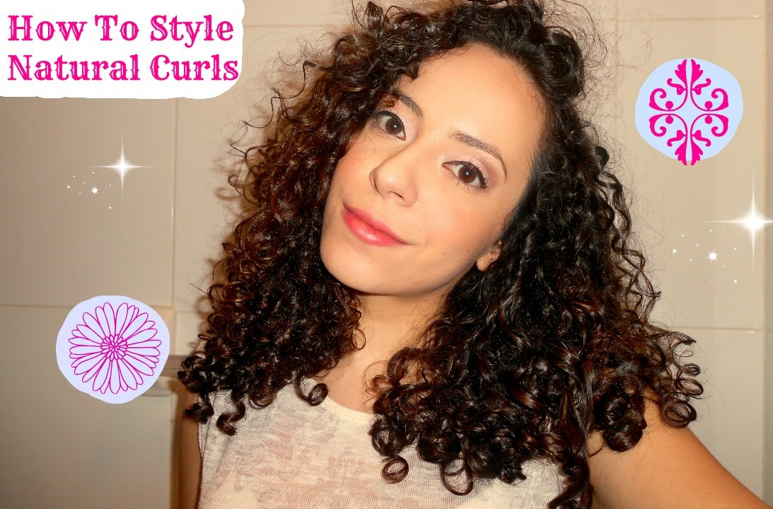 how to style natural curly hair (type 3a/3b hair)