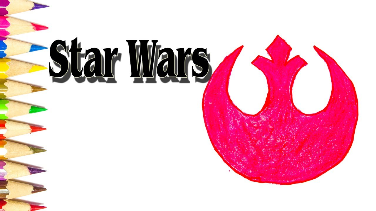 How To Draw The Rebel Alliance Starbird From Star Wars Sld Youtube