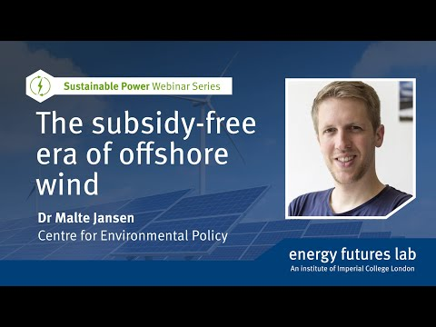 Webinar: The subsidy-free era of offshore wind