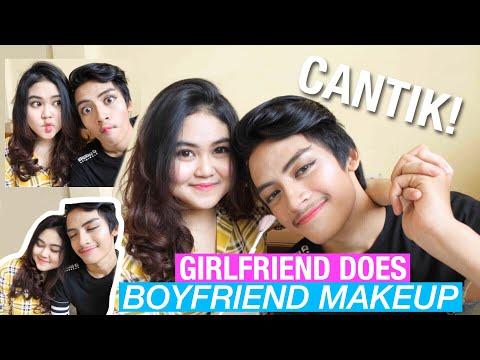COWOK-KU JADI CANTIK BANGET! (Girlfriend Does Boyfriend Makeup)