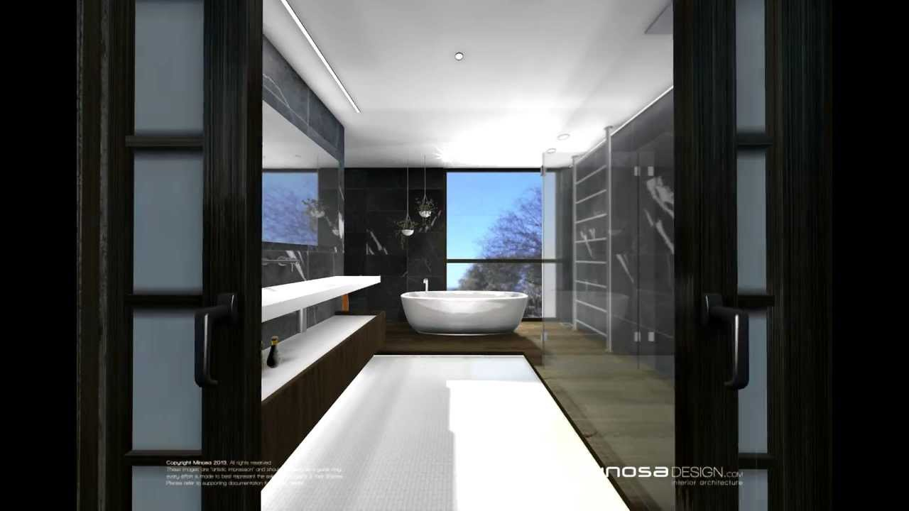 asian inspired modern bathroomminosa - youtube