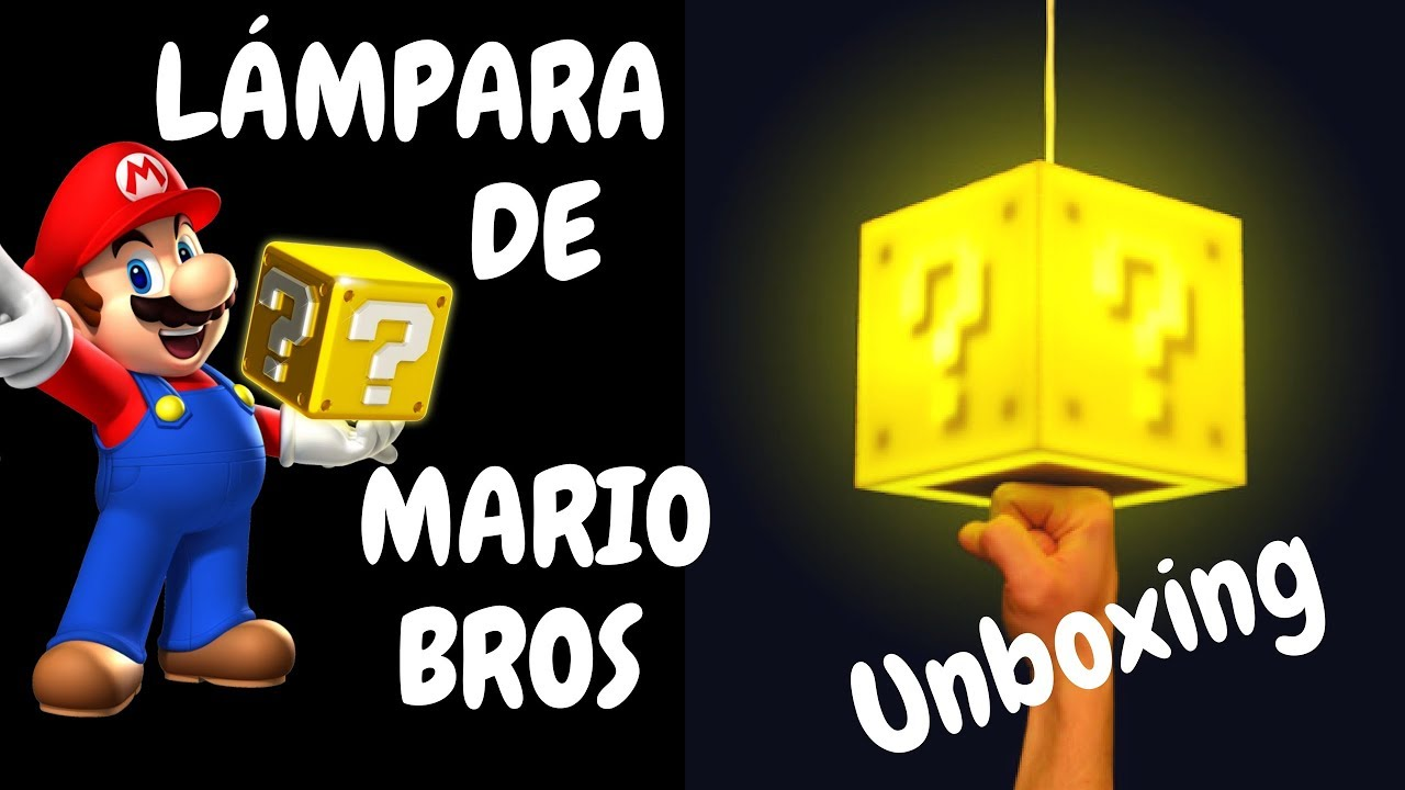 Lámpara Unboxing Bros Review super Mario cubo 80wOnPkX