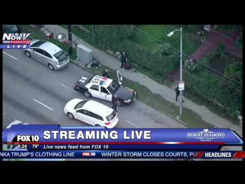 DRAMATIC Police Chase Through The Streets Of Los Angeles (FNN)