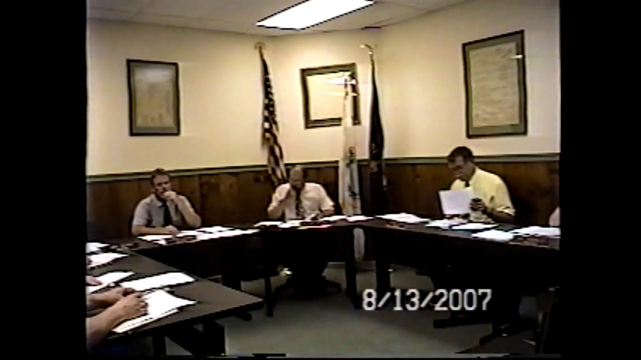 Champlain Village Board Meeting  8-13-07