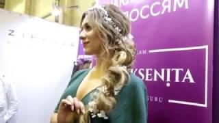 Красивая свадебная прическа с украшением на длинные волосы! Julia Ksenita