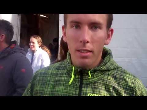 Ryan Vail talks after finishing 9th at the 2014 New York City Marathon