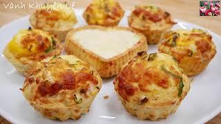 Bánh muffin trứng - cách làm bánh cupcake trứng rất ngon mà dễ lại thành công by vanh khuyen