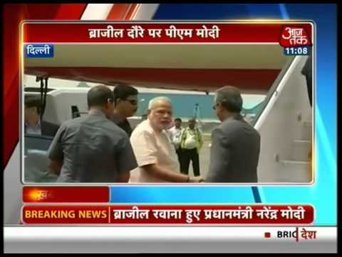 PM Modi on his way to Brazil to attend BRICS Summit