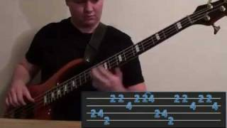 YYZ bass cover w/ onscreen TAB