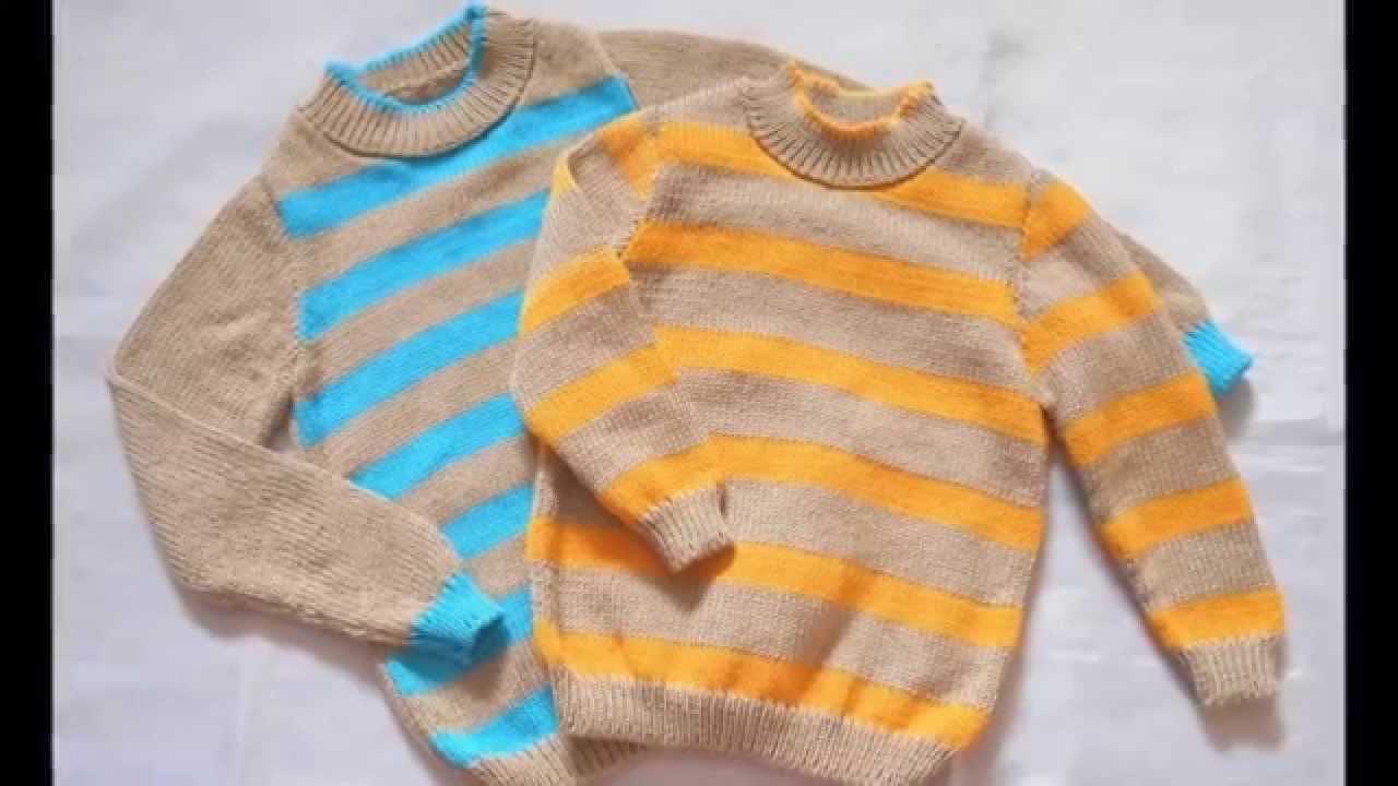 Ropa de invierno para niños tejidos a dos agujas - YouTube