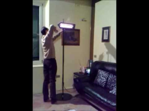 Lampada a infrarossi per il riscaldamento youtube