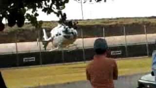 Helicoptero decolando - Riversul